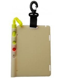 Slate FLUOR with carabiner and thick pencil. Fits comfortably in your hand 12x18cm