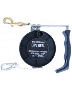Cave reel, plastic reel with stainless steel. Length 45m