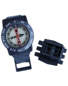Compass with arm strap and hose attachment