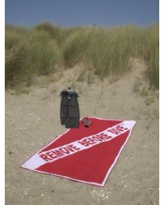 Beach Towel 100 x 200 cm REMOVE BEFORE DIVE ®
